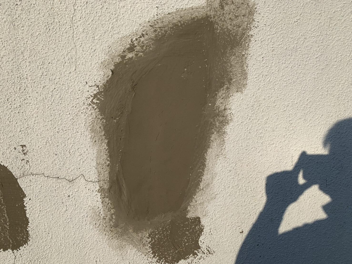 満栄工業様壁補修工事