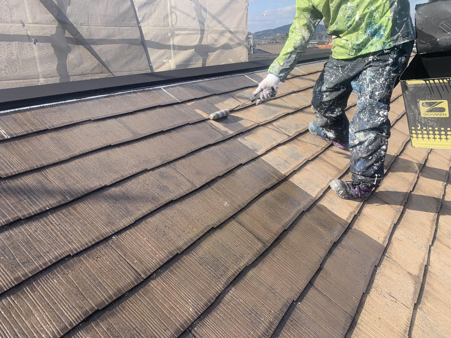 屋根のシーラー、錆止め工事